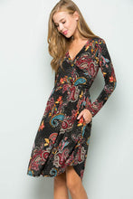 Load image into Gallery viewer, Paisley Print Swing Dress (S-XL)