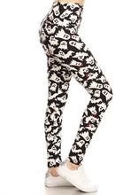 Load image into Gallery viewer, One Size Ghost Print 5 Inch Yoga Leggings Full Soft