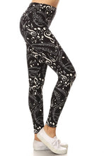 Load image into Gallery viewer, One Size Music Note Print Yoga Leggings Full Buttery Soft