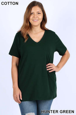 Premium Relaxed V-Neck Tee (1X-3X)