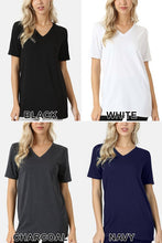 Load image into Gallery viewer, Premium Relaxed V-Neck Tee (1X-3X)