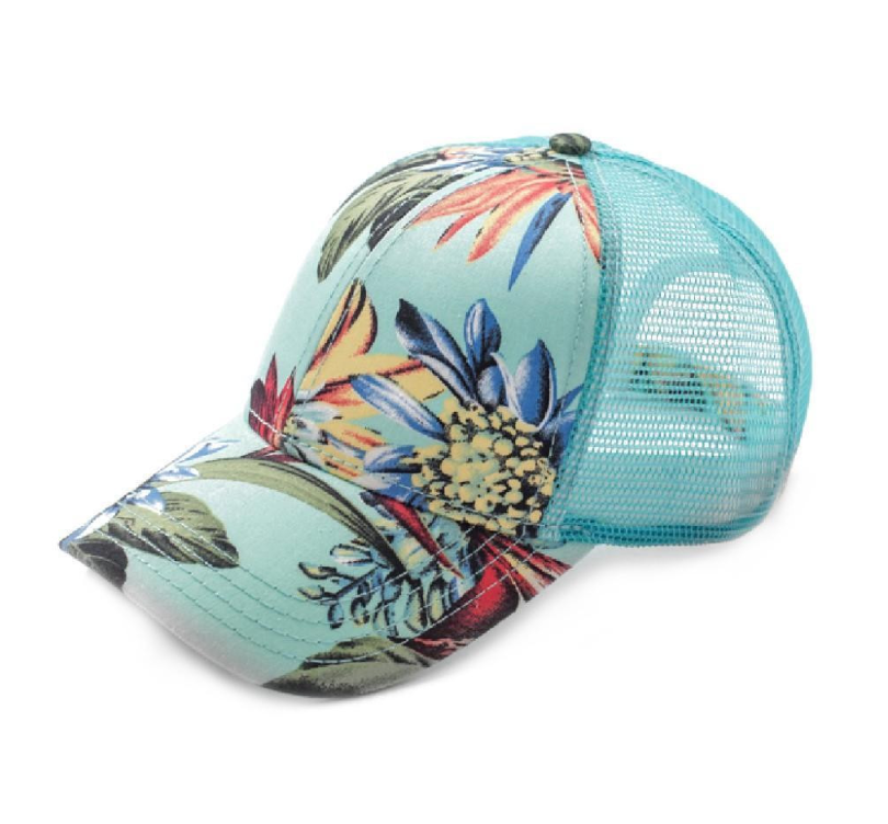 Tropical Print Trucker hat