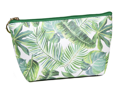 Tropical Print Makeup/Accessories Bag