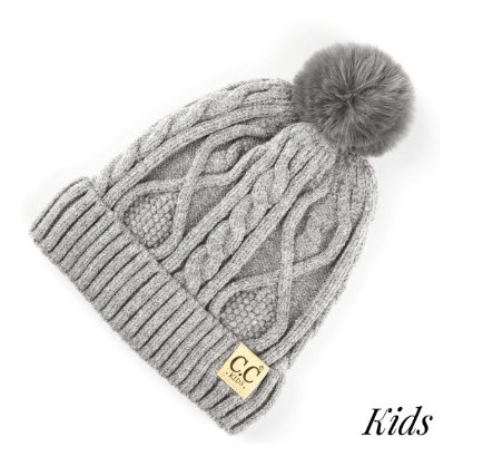 C.C. Chunky Cable Knit Premium Kids Beanie