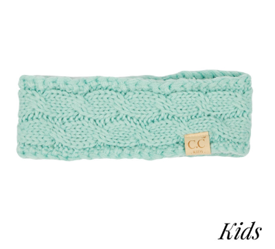 KIDS C.C. head wrap - Aqua or Hot Pink