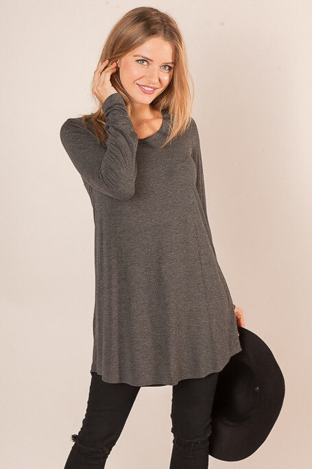 Jersey Knit Long Sleeve Top (Sm-L)