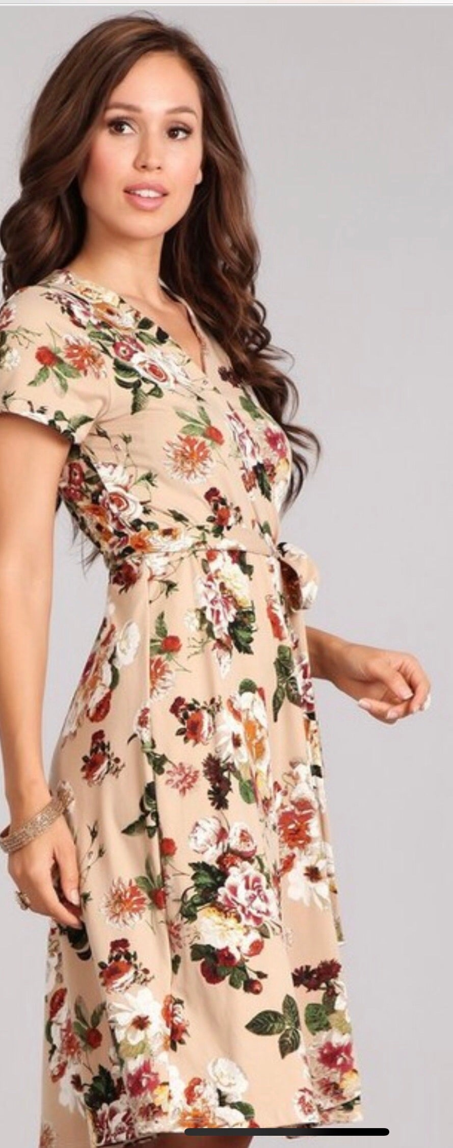 Faux wrap dress (SM-L)