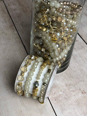 Party 3-Bracelet Stack - Ivory & Gold
