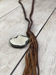 Braided Leather Howlight necklace