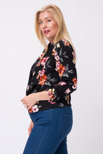 Load image into Gallery viewer, 3/4 Sleeve Floral Brint Blazer (XL-3XL)