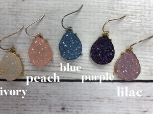 Lightweight Druzy Dangle
