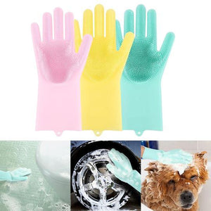 Magic Gloves Silicone Cleaning Dishwashing Gloves (1 pair)