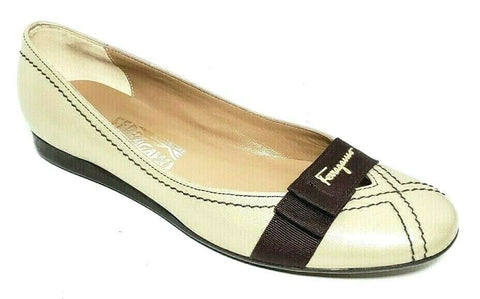 Salvatore Ferragamo Women Fashion Casual Shoes Tan Brown Size 7.5AA