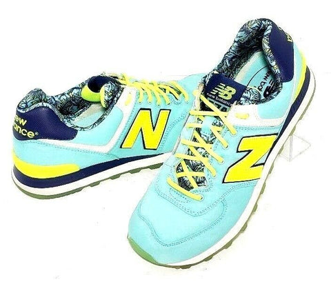 New Balance 574 Aqua/Navy Blue Athletic Women Sneakers Size 9