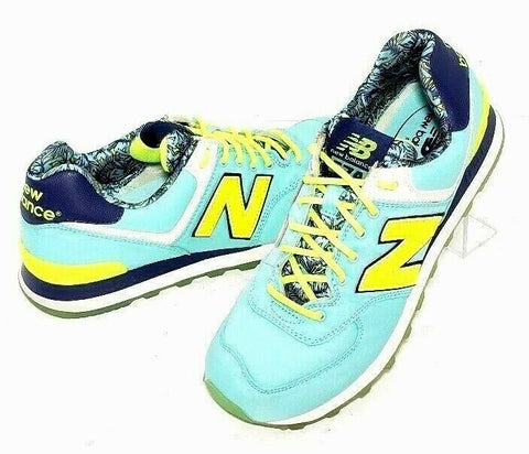 New Balance 574 Women Athletic Running Shoes Size 9 Aqua Navy BlueWL574ILA