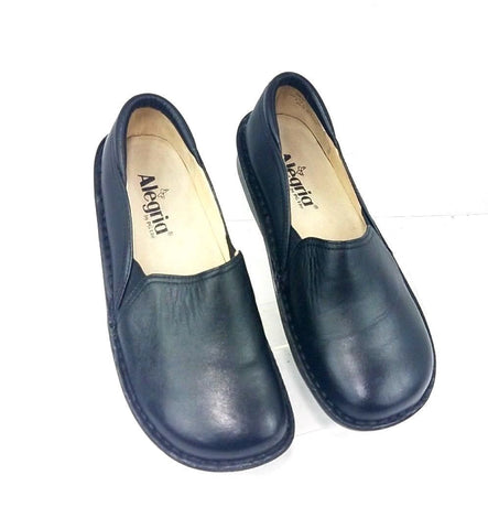 Alegria Debra Women Clogs/Mules Black Leather Slip On Casual EUR 37