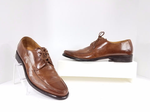 Johnston & Murphy Brown Leather Apron Toe Men Oxfords Size 11