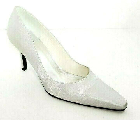Stuart Weitzman Women Heels/Pumps Satin Gray Size 9M Pre-owned