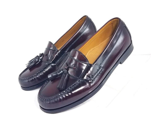 Cole Haan Cordovan Burgundy Leather Pinch Tassel Men Loafers Size 7.5 D