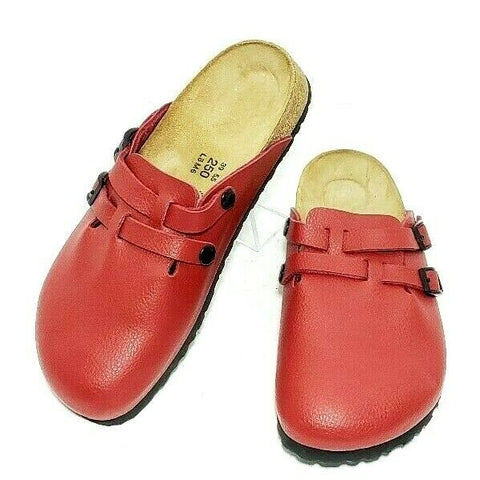 Birki's Birkenstock Sandals Closed Toe Clogs Red Slip On EUR 39 US 8