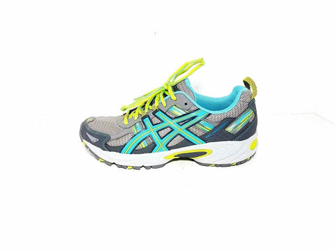 Asics Gel Venture 5 Gray/Turquoise/Lime Trail Running Women Sneakers Size 10