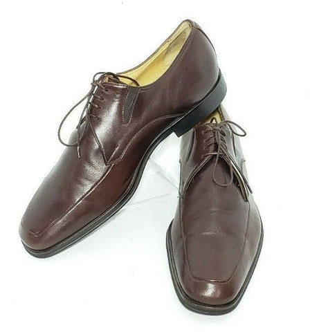 Bruno Magli Ranuncolo MO1192 Brown Leather Men Oxfords Size 8M