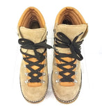 Rare! Hanwag Women Trail Hiking Winter Boots Beige Suede Tan Leather Size 10