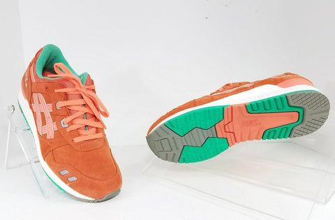 Asics Gel Lyte III Orange/Gray/Green/White Men Athletic Sneakers Size 7.5