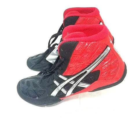 Asics Split Second 9 Red/Black/Silver Wrestling Men Athletic Sneakers Size 10.5