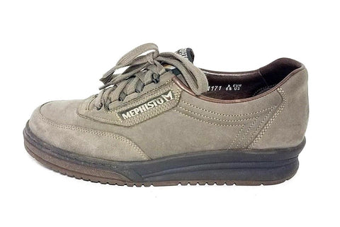 Mephisto Runoff Caoutchouc Gray Leather Women Sneakers Size 6.5