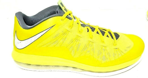 Nike Air Max Lebron James X Low Sonic Sneakers Mens Yellow 2013 Size 11