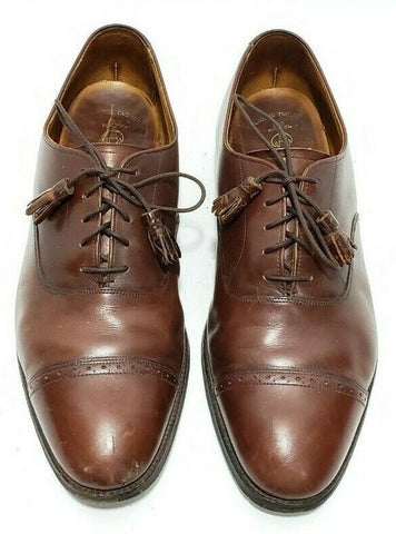 Brooks Brothers English Mens Oxfords Cap Toe Lace Up Brown Leather Size 9