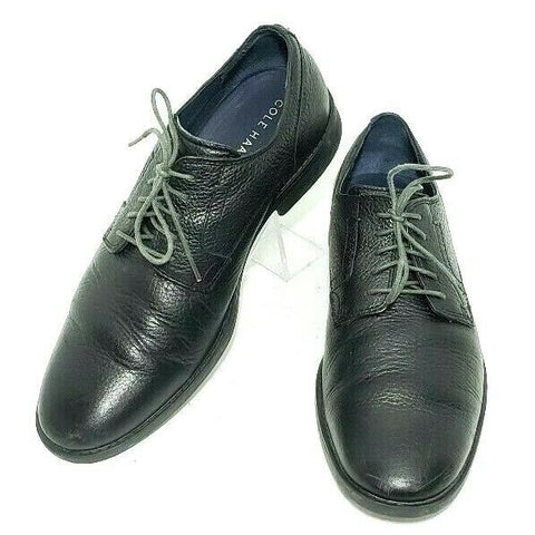Cole Haan Derby Men Oxfords Lace Up Black Pebbled Leather Size 8M