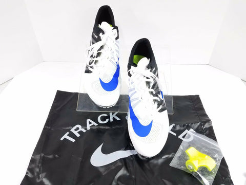 Nike Zoom JA Fly 2 Flywire White/Blue/Black Track & Field Spikes Men Athletic Sneakers Size US 12.5
