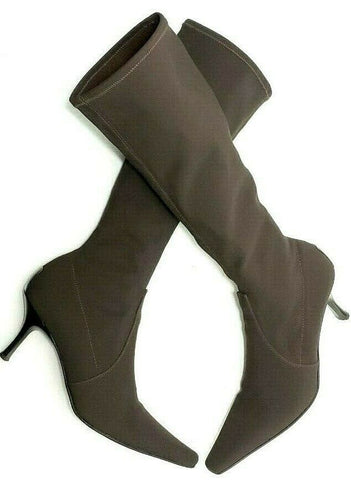 Donald J Pliner Brown Elastic Knee-High Women Fashion Boots Size 9M