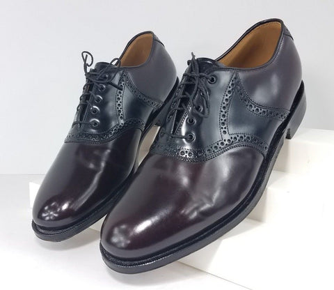 Johnston & Murphy Burgundy/Black Saddle Men Oxfords  Size 9