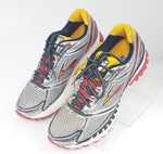 Brooks Ghost 7 Silver/Red/Yellow/White Men Athletic Sneakers Size 8 US 41 EU