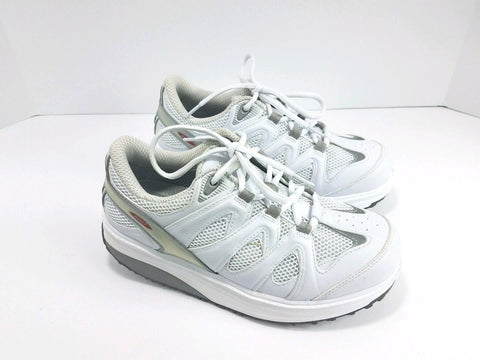 MBT Leather White Mesh Toning Walking Sports Shoe Women Sneakers Size 7.5