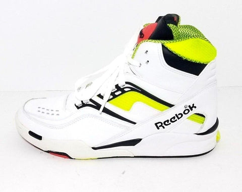 Retro Reebok The Pump Twilight Zone Neon Yellow Sneaker High Men Athletic Sneakers Size 8