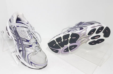 Asics Gel Nimbus 11  Gray/Purple Running Women Sneakers Size 8.5
