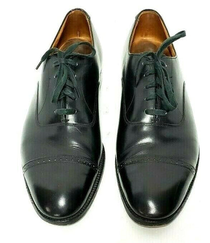 Brooks Brothers Cap Toe Black Leather Men Oxfords Size 9 US EUR 42D
