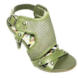 Kenneth Cole Green Ankle Strap Women Fashion Sandals Size 6M