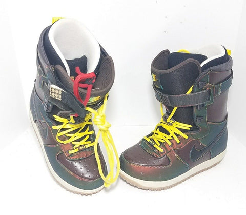 Nike Zoom Force 1 Metallic Snowboard Men Boots 334841-002 Size 8.5