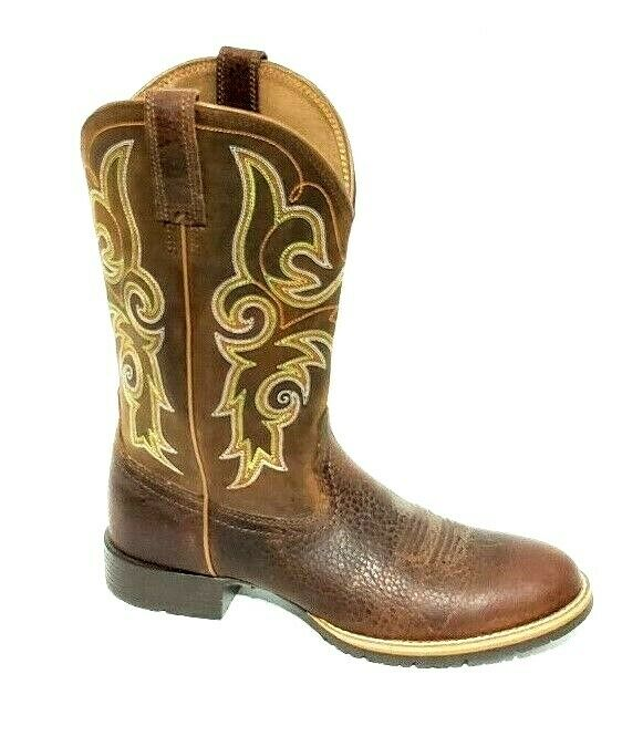 a7820f4b27d Ariat Hybrid Rancher Western Boots Womens Round Toe Size 7.5B 10014161 Brown