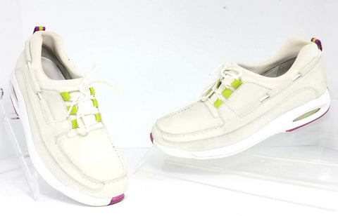 Cole Haan Nike Air Lace-Up Beige Boat D12249 Women Fashion Casual Shoes Size 8 B