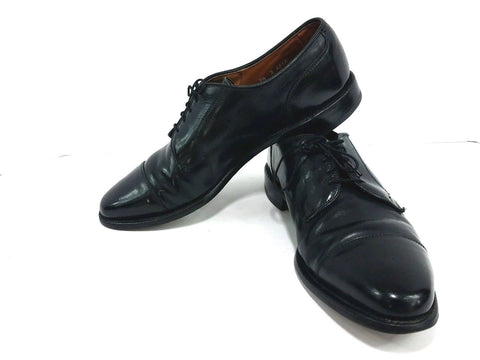 Allen Edmonds Redding Black Leather Cap Toe Derby Men Oxfords Size 9.5D