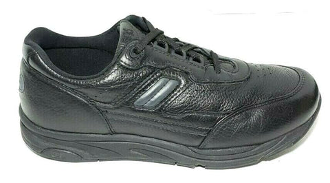 SAS Journey Mens Athletic Walking Sneaker Black Leather Size 8.5  Very Good