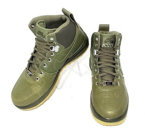 Nike Air Lunar Force 1 Sneakerboot GS Med Olive/Gum Size 5.5Y Youth Shoe