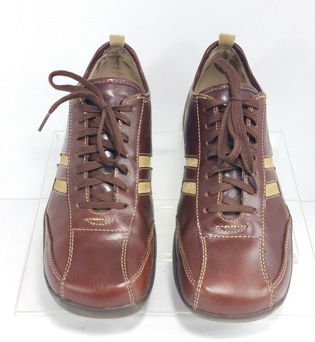 Steve Madden Brown Leather Lace Up Men Casual Shoes Size 8