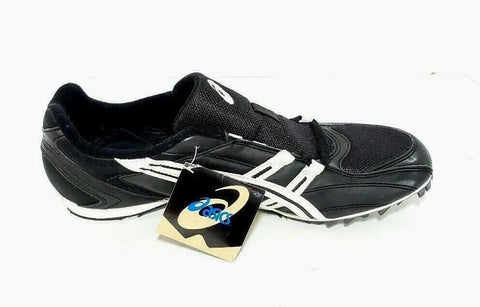 Asics Mens Running Sprint Spikes GN214 Black White Shoe Size 13 New